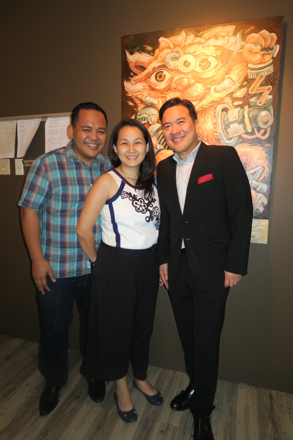 Our Awesome Planet's Anton and Rachelle Diaz with Marula Oil's Larry Tolosa