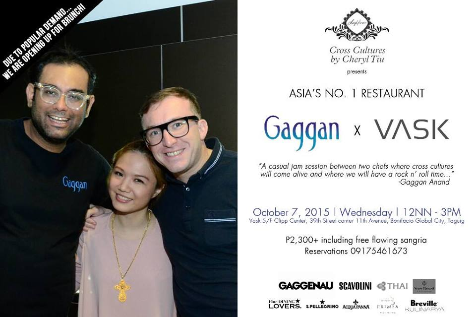 Cross Cultures x Gaggan x Gallery Vask- October 7, 2015- Brunch