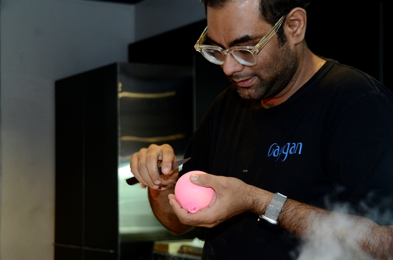 For day 1 of our Gaggan in Manila, we had a cooking demo at the Gaggenau showroom (Photo by Normal Lleses)