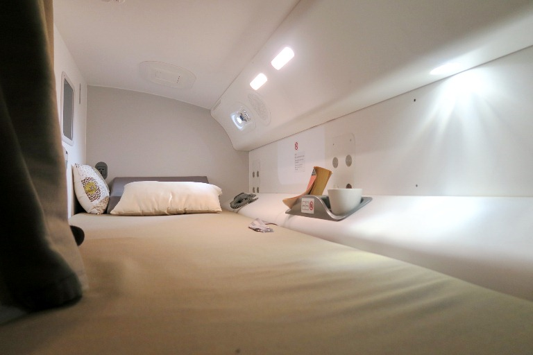 Boeing Dreamliner Gallery- Cabin Crew Quarters 1- Boeing Delivery Flight