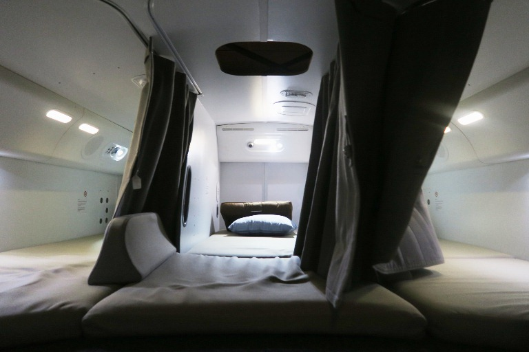 Boeing Dreamliner Gallery- Cabin Crew Quarters 2- Boeing Delivery Flight