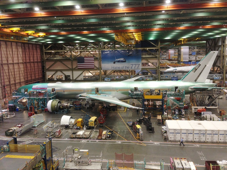 Boeing Factory- Everett, Washington- Boeing- Cathay Pacific 777-300ER Delivery Experience 2