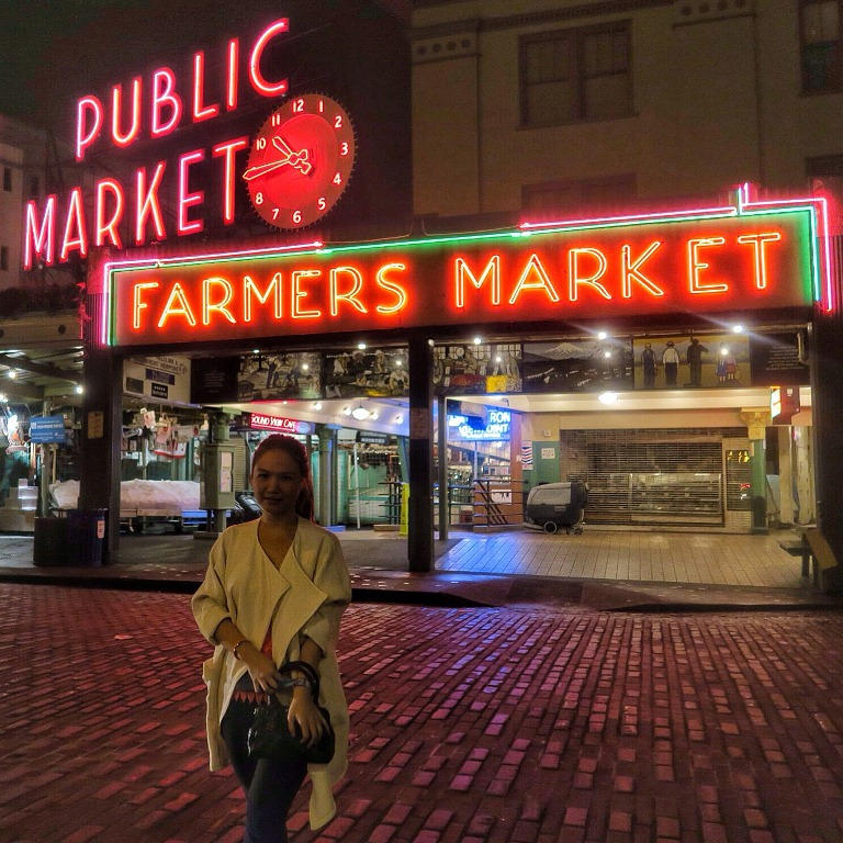 Cheryl Tiu- Farmer's Market- Pike Place Market- Seattle, Washington- Cathay Pacific- Boeing Delivery Flight