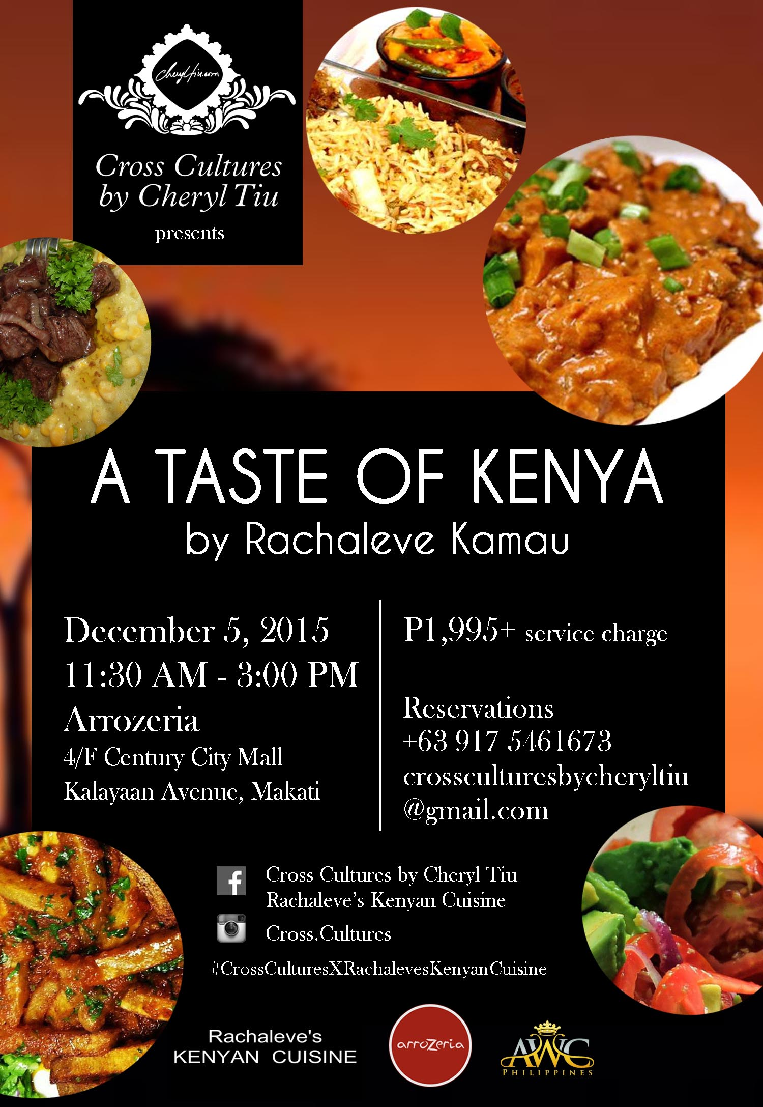 Cross Cultures Presents A Taste of Kenya by Rachaleve Kamau- December 5, 2015 Saturday- Arrozeria Century City Mall- AWC Philippines