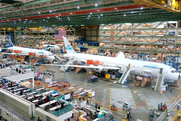 Inside the Boeing Factory- Everett, Washington- Boeing Delivery Service