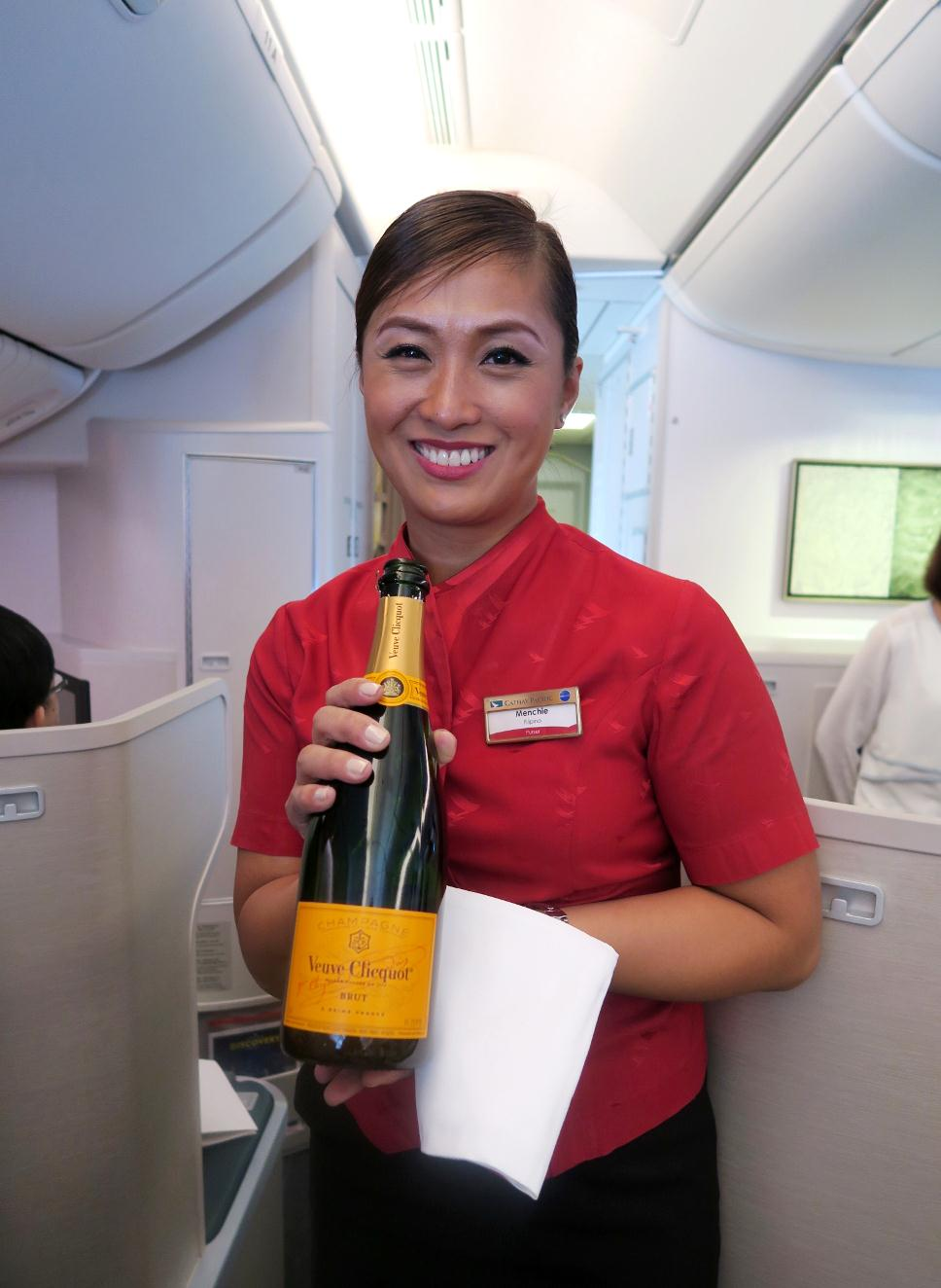 Menchie Aduan-Francisco, Cathay Pacific Boeing Delivery Flight