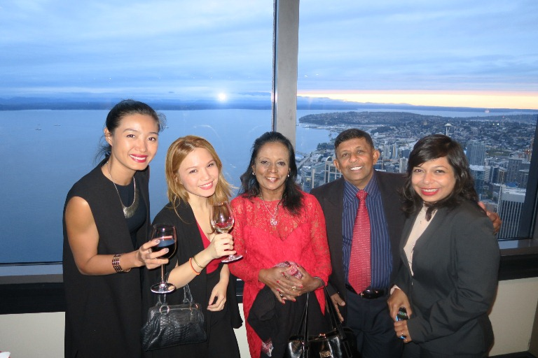 Nhu Vo Cathay Pacific Vietnam, Cheryl Tiu, Zanita Careem Sunday Island Sri Lanka, Sanath Weerasuriya The Sunday Times Sri Lanka, Sharmistha Mukherjee The Indian Express- Columbia Tower- Seattle