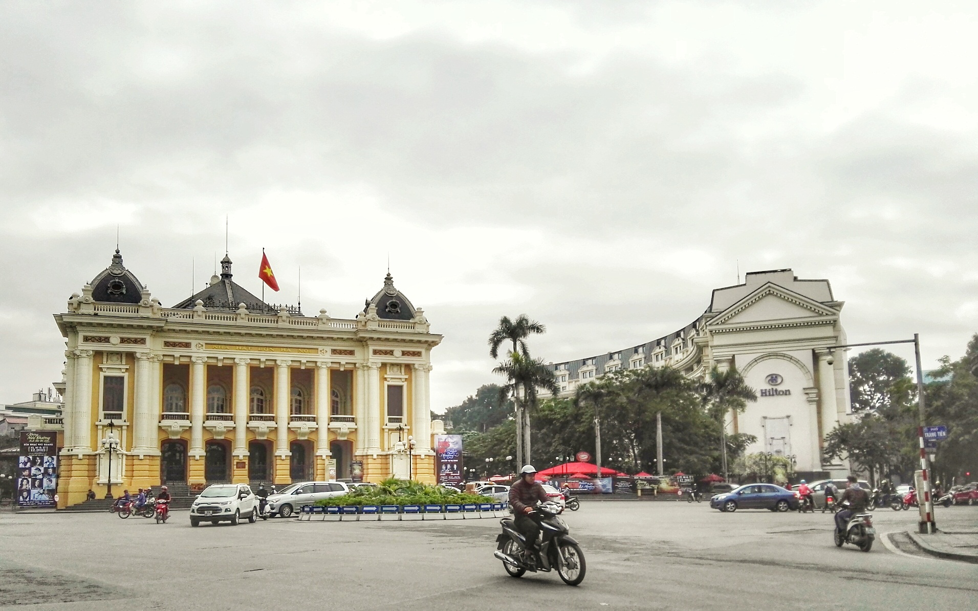 Xin chao, HANOI! So nice to finally meet you! (Left: Hanoi Opera House; right: Hilton Opera Hanoi-- both right smack in the Old and French Quarters-- the area I would recommend you to stay if you were visiting as a tourist-- everything is so easily walkable!
