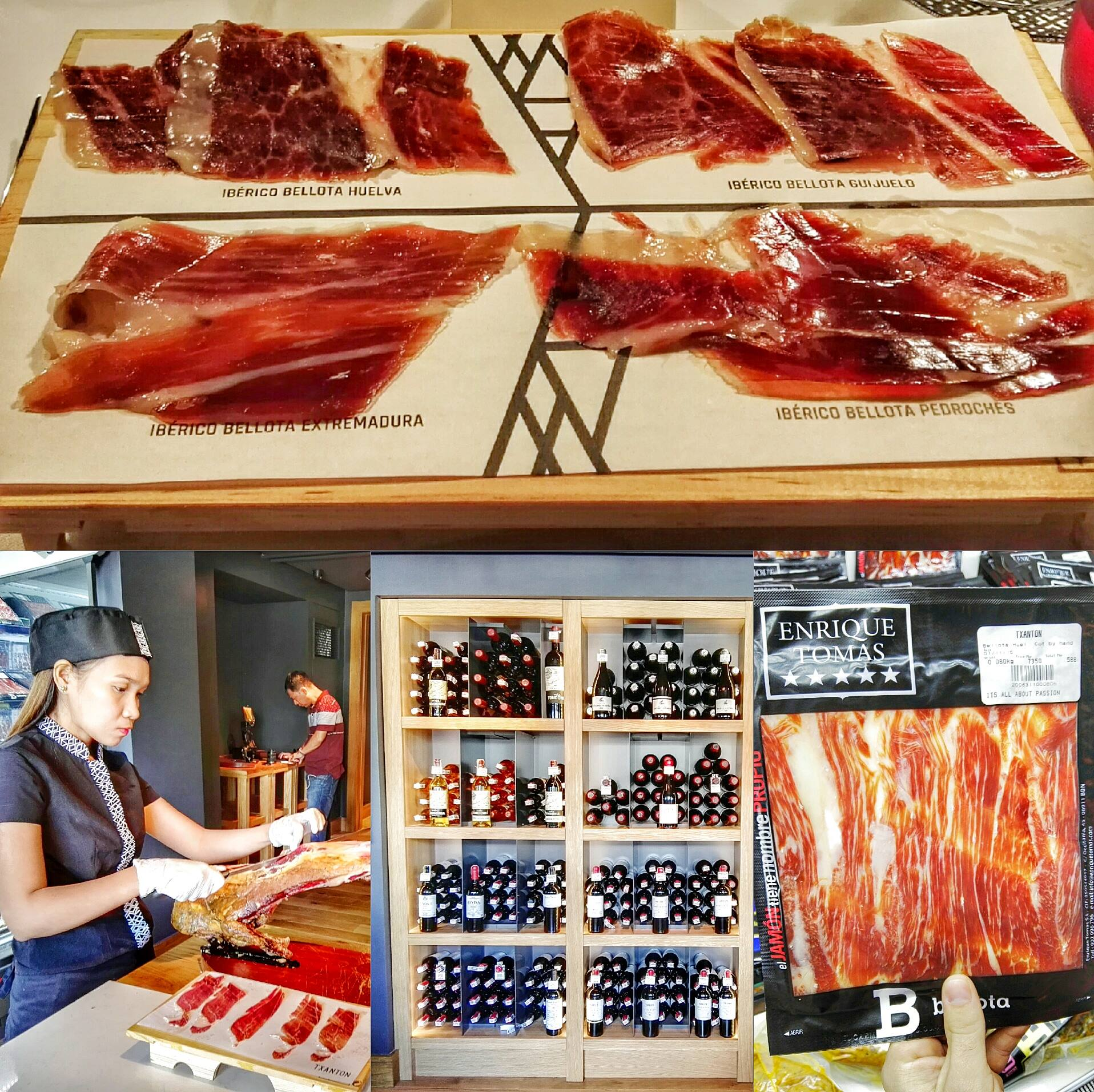 Txanton at Chino Roces Ave. or Pasong Tamo Ext. in Makati is the first jamoneria and wine cellar in the Philippines