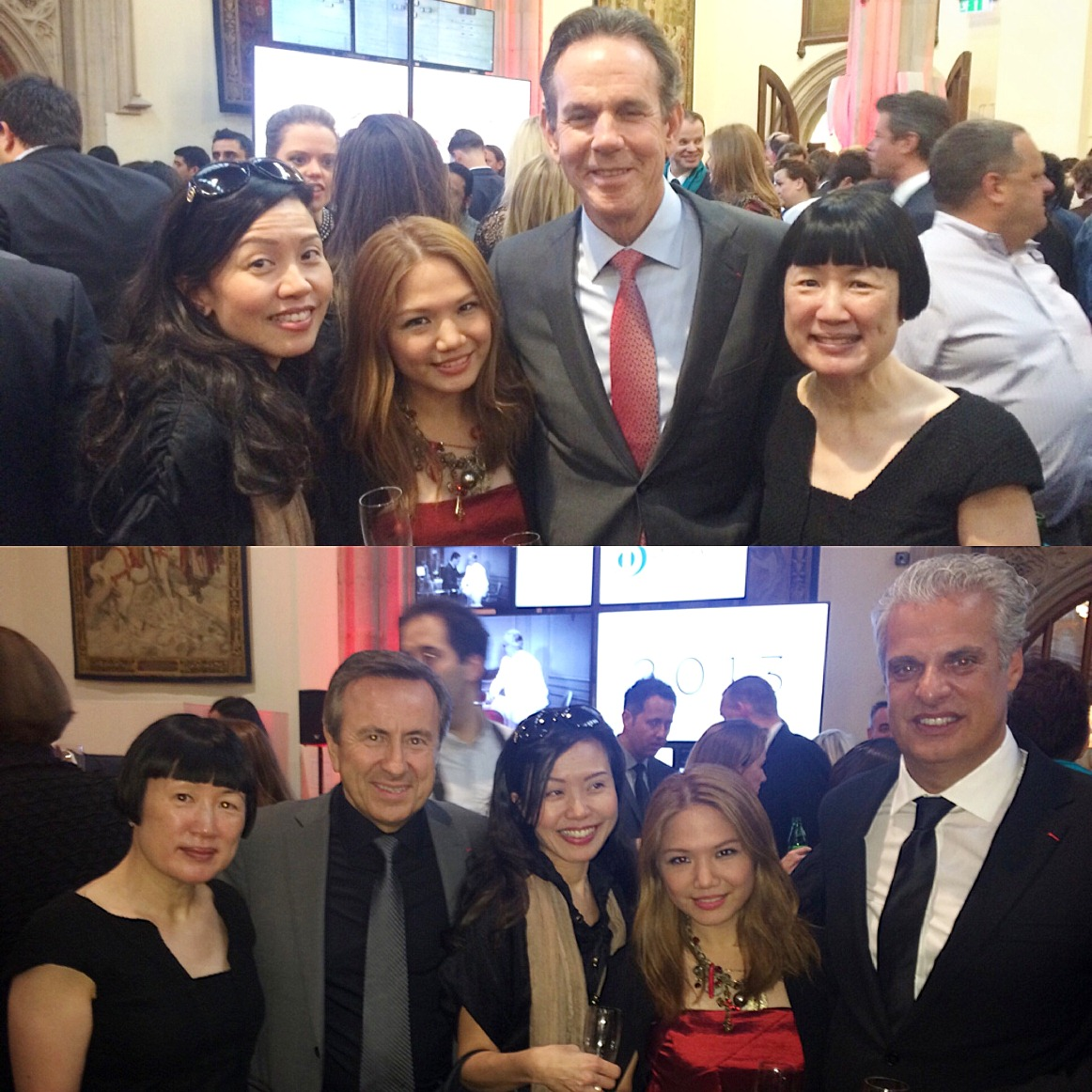 The World's 50 Best Restaturants Awards Ceremony at The Guildhall London- Evelyn Chen, Cheryl Tiu. Thomas Keller, Susan Jung, Daniel Boulud, Eric Ripert