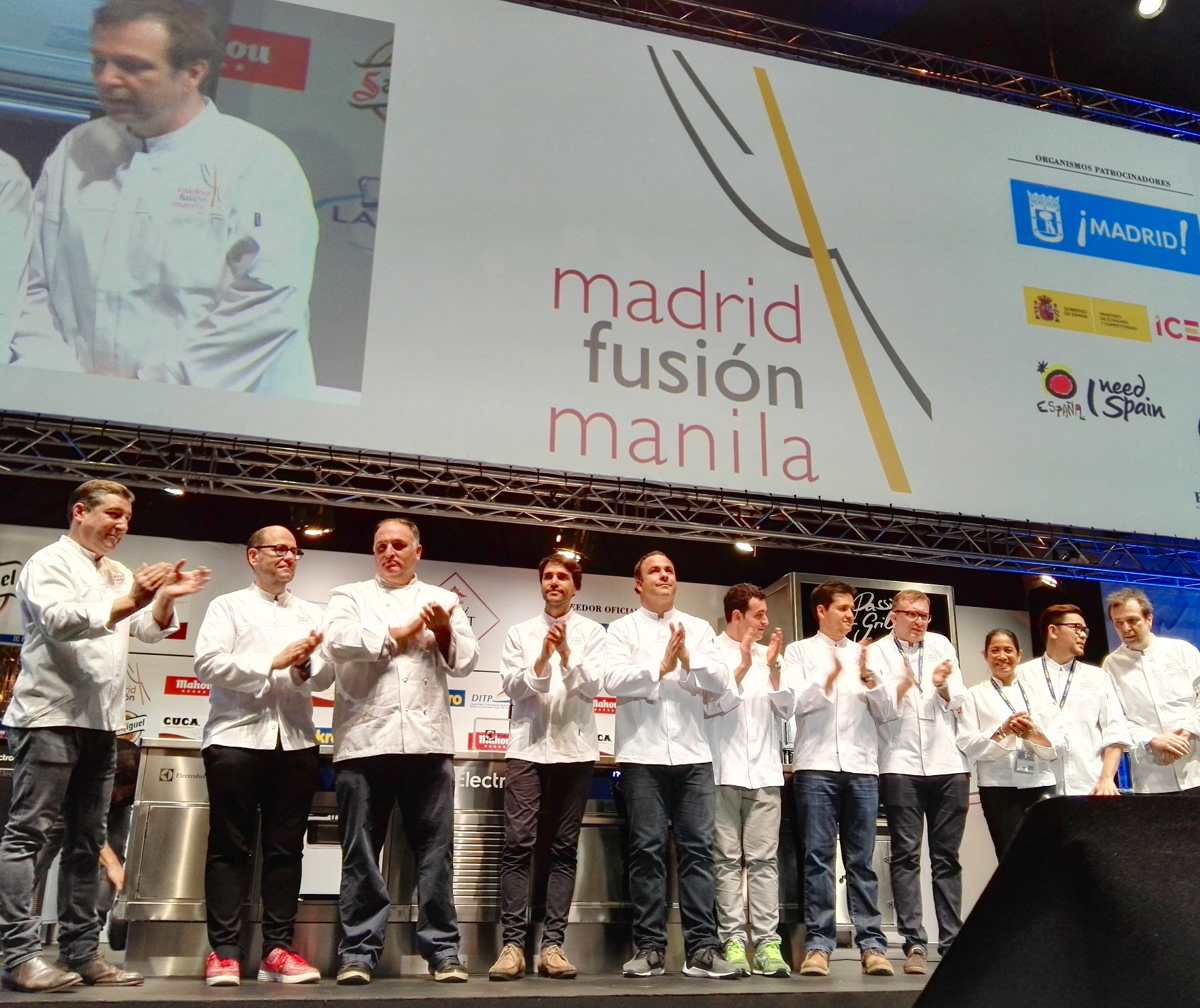 Presenting the cast of chefs coming to Manila this April 7 to 9 for Madrid Fusion Manila 2016: d Fusion 2016- Joan Roca (El Celler de Can Roca), Jordi Butron (EspaiSucre), Jose Andres, Virgilio Martinez, Angel Leon, Richard Camarena, Jorge Vallejo, Chele Gonzalez, Margarita Fores, Miko Aspiras, David Thompson