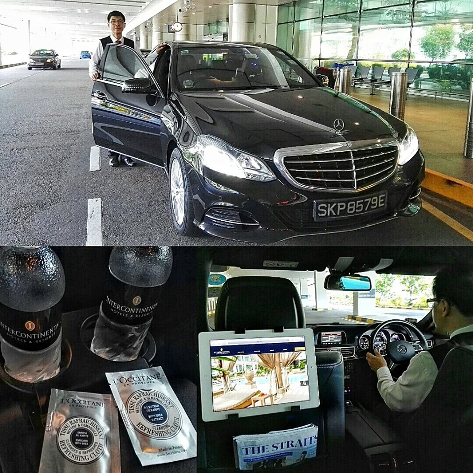 InterContinental Singapore- Airport Transfer Pick-up- Mercedes E-Class