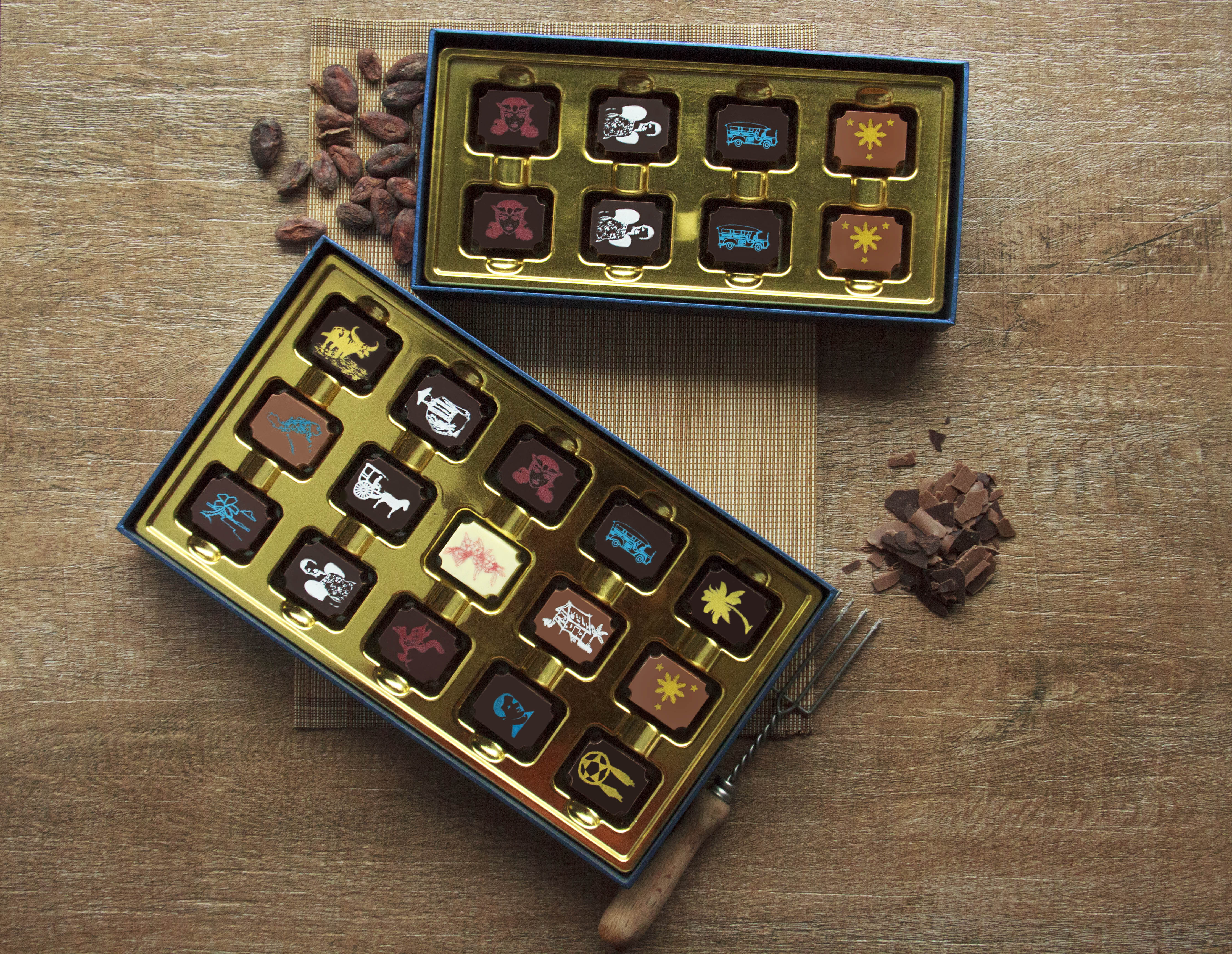 Today, known as Manila Chocolatier, they offer boxes of 8 (priced at PHP650) and 15 (priced at PHP1,250)
