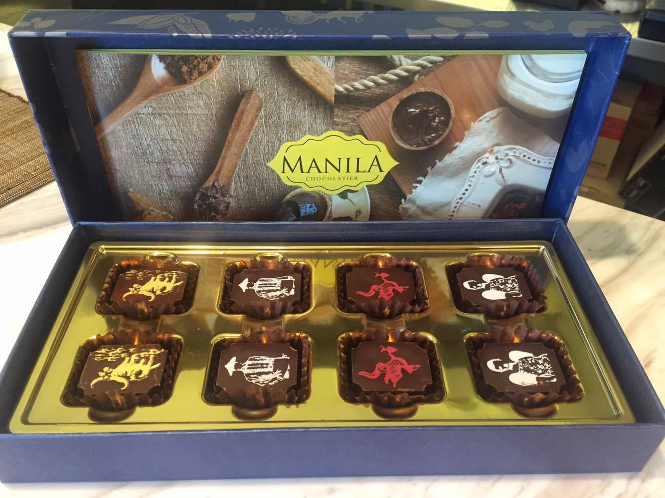 The best chocolates for me from the Philippines-- and they make excellent pasalubong and gifts from the Philippines! Manila Chocolatier's 8-piece box retails for PHP650