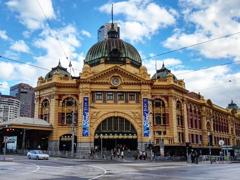 My first time ever in Australia, hence I have 1 more continent left (Antartica)! This is Flinders Street Station-- apparently one of the most photographed landmarks in the city.