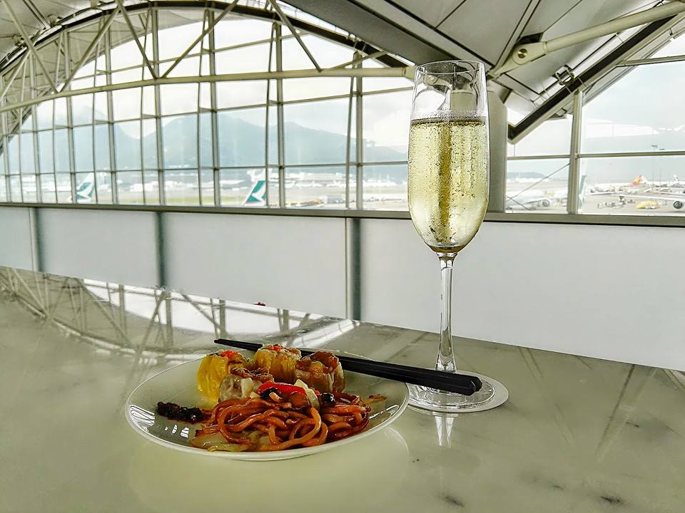 Cathay Pacific Business Class Lounge- The Wing- Hong Kong International Airport