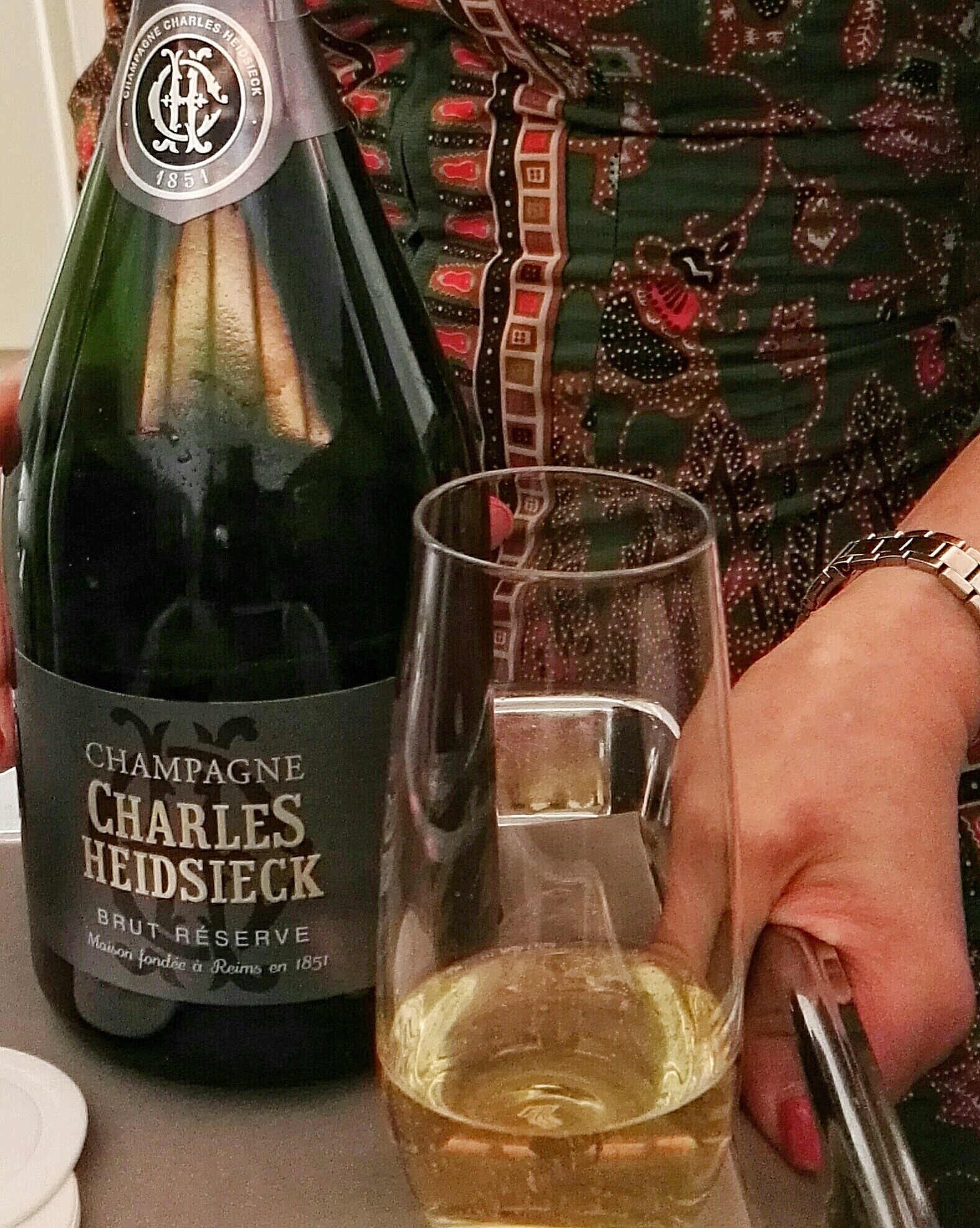 Charles Heidsick Brut Champagne- Business Class- Singapore Airlines