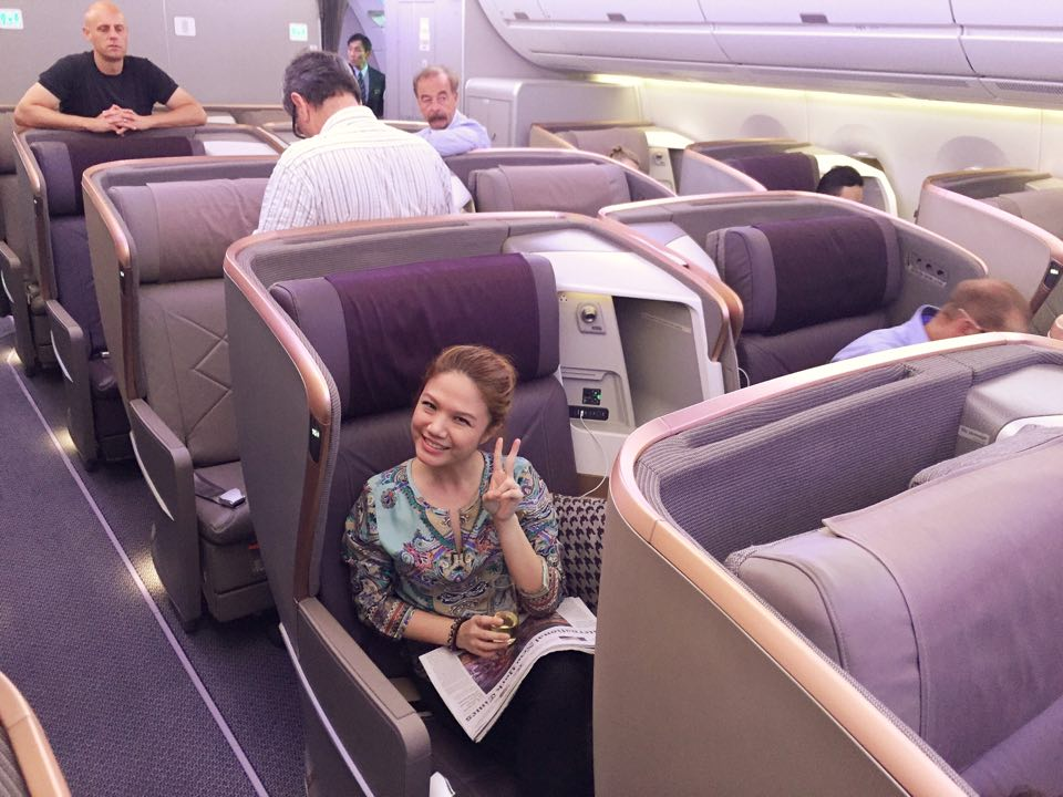 Cheryl Tiu- Singapore Airlines Inaugural Flight to Dusseldorf, Germany- Airbus A350-900- Business Class