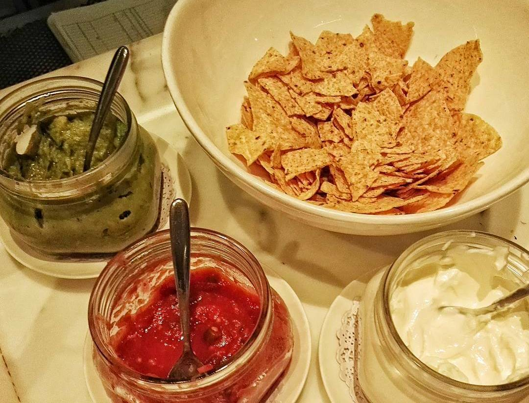 Corn Chips- Nachos with Salsa, Guacamole and Sour Cream- Cathay Pacific Business Class Lounge- The Bridge- Hong Kong International Airport