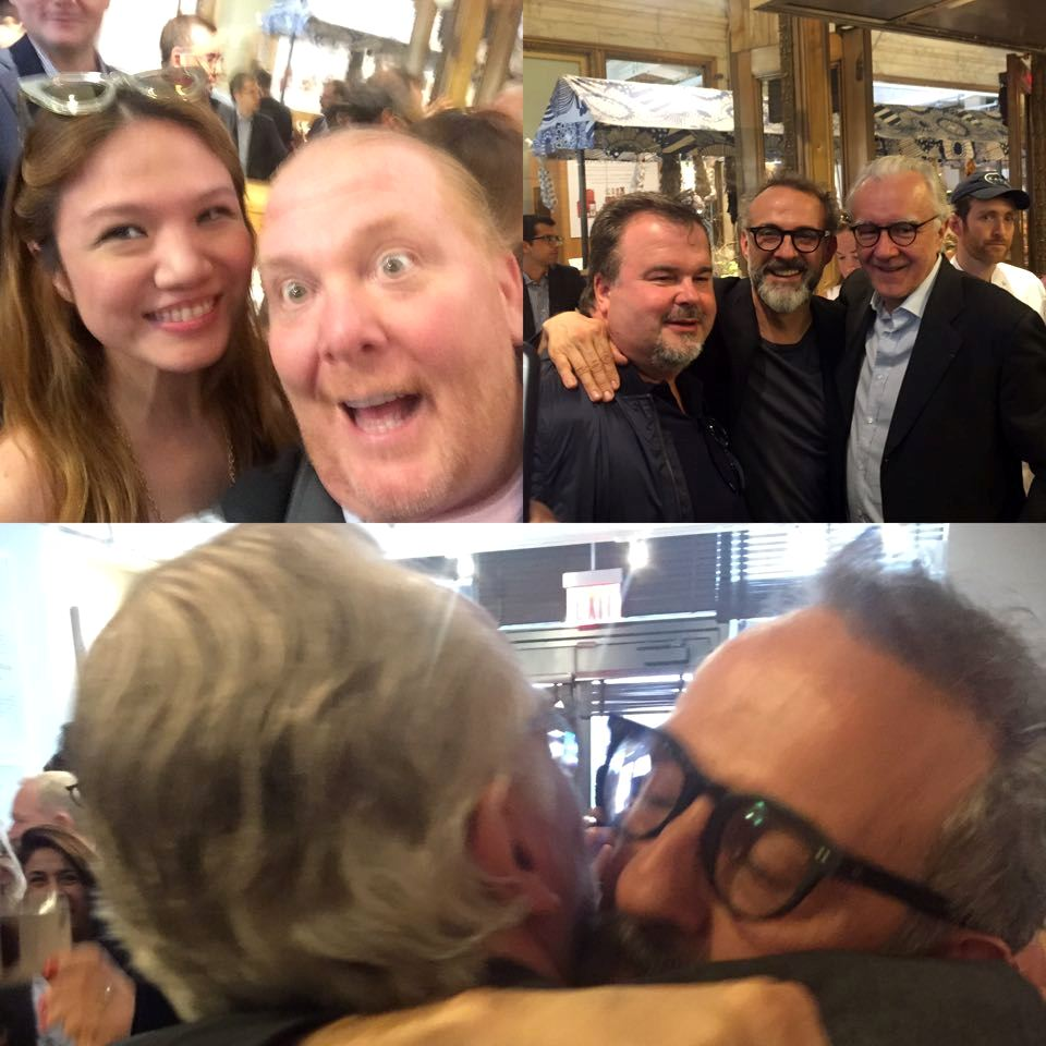 Italian Press Conference at Eataly- Mario Batali, Cheryl Tiu, Pierre Herme, Massimo Bottura, Alain Ducasse- World's 50 BEst 2015- New York City
