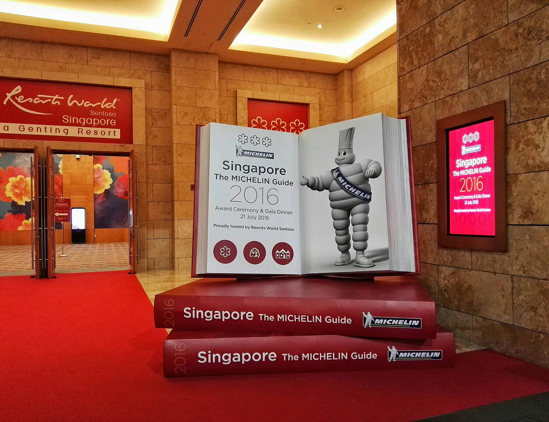 The first Michelin Singapore awards ceremony was held at Resorts World Sentosa