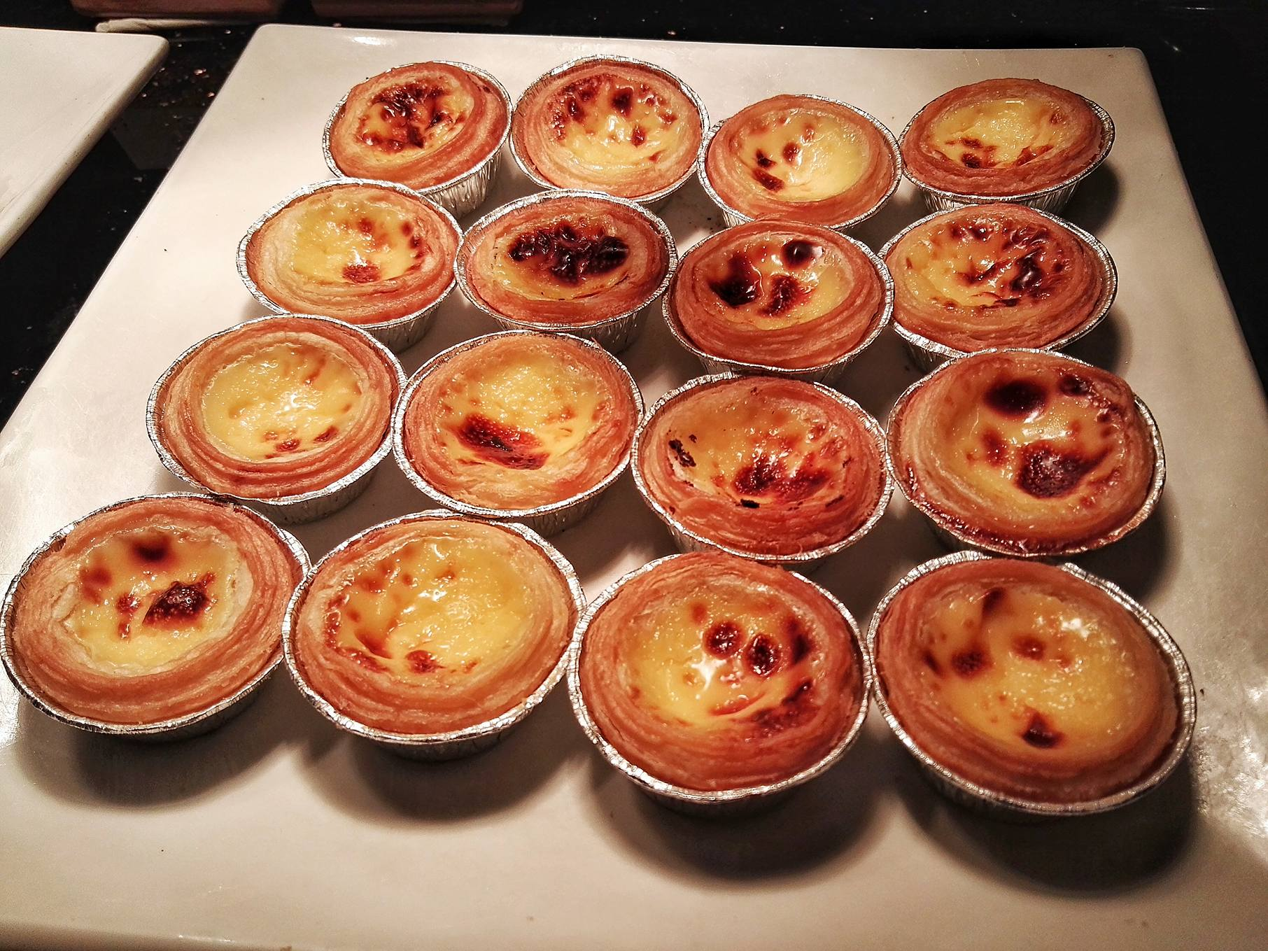 Mini Portuguese Egg Tarts at Cathay Pacific Business Class Lounge- The Bridge- Hong Kong Airport