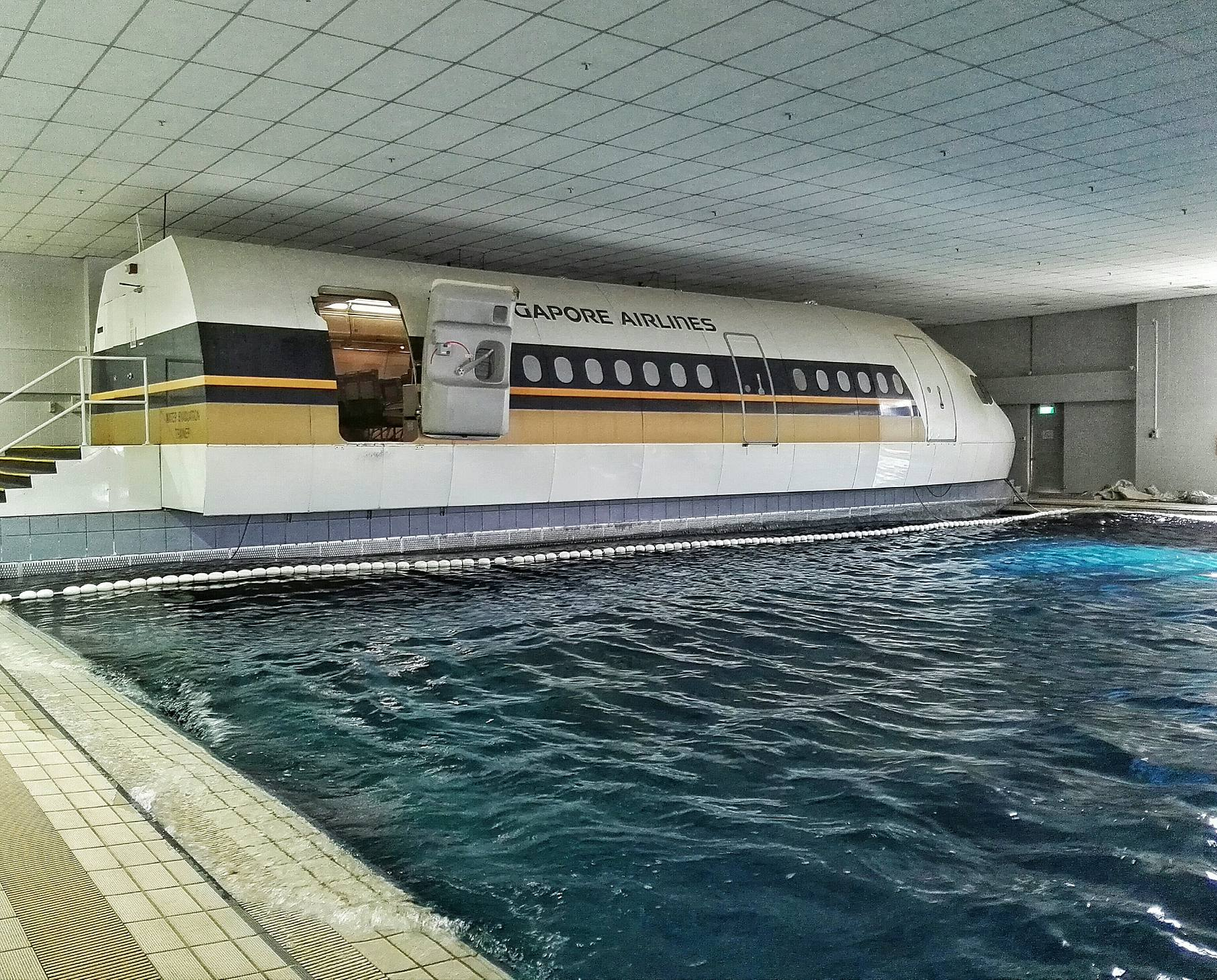 Singapore Airlines Training Center- Evacuation Pool