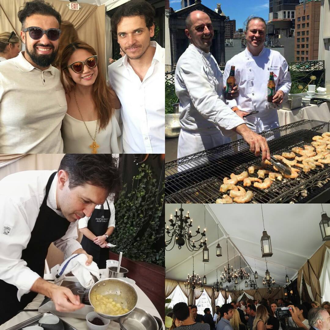 The Great Aussie brunch on the The Nomad Hotel rooftop- New York City- Cheryl Tiu, Vladimir Mukhin, Rodolfo Guzman, Ben Shewry, Neil Perry Rockpool- World's 50 Best 2016 New Yor