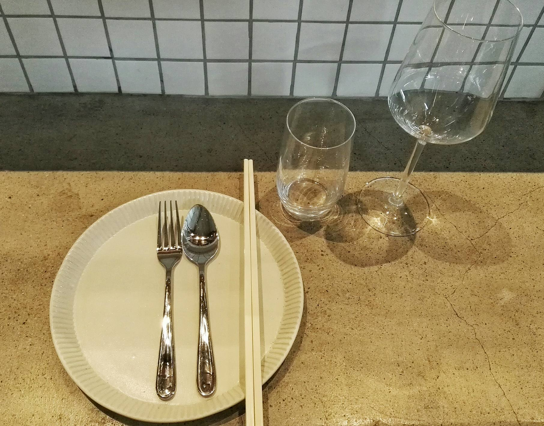 Hawker-Inspired Cutlery and Schott Zwiesel Wine Glass- Hey Handsome- Net Park BGC- Bonifacio Global City- Manila, Philippines