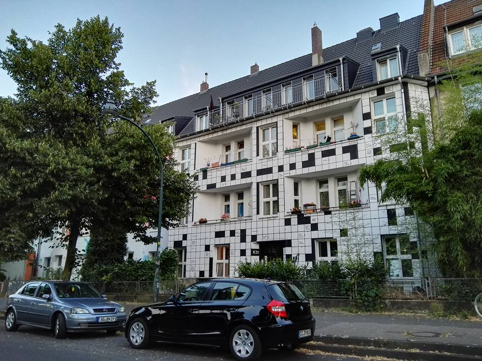 Kiefernstrasse- Graffiti Houses- Crossword Puzzle House- Dusseldorf, Germany