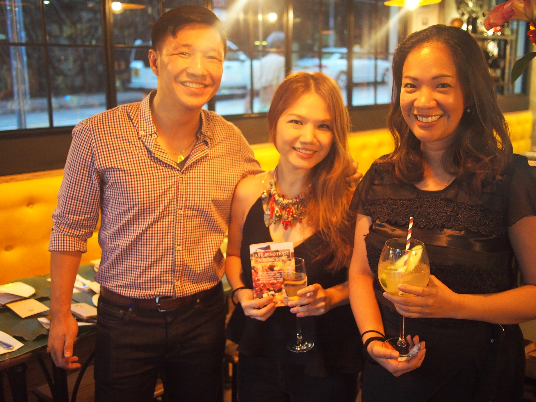 Nicky Lozano of Memz Chicharon, Cheryl Tiu, Maita Quesada of The Moment Group