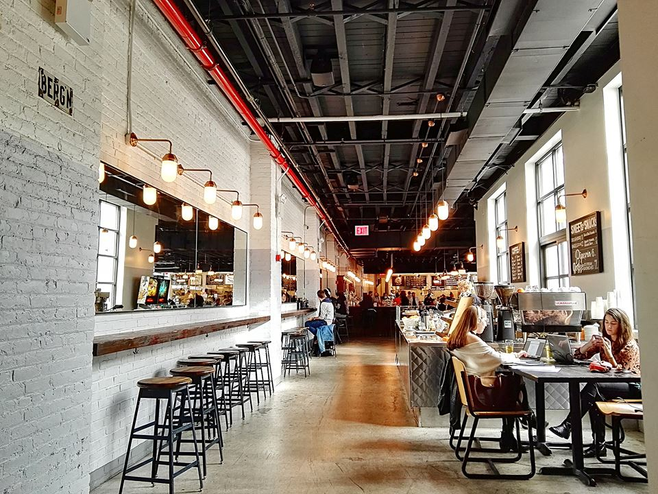 Berg'n Beer Hall is a new Brooklyn beer hall and event space by the founders of Brooklyn Flea and Smorgasburg. Lumpia Shack, Mighty Quinn's BBQ, Bread & Salt, Landhaus-- plus a large selection of Brooklyn beer and wines can be found here