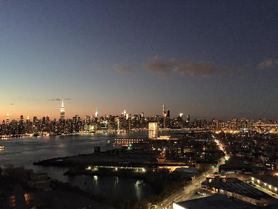 And while the picture doesn't do it complete justice as it was taken with an Iphone, here's the view of the stunning Manhattan skyline from Westlight atop the William Vale Hotel