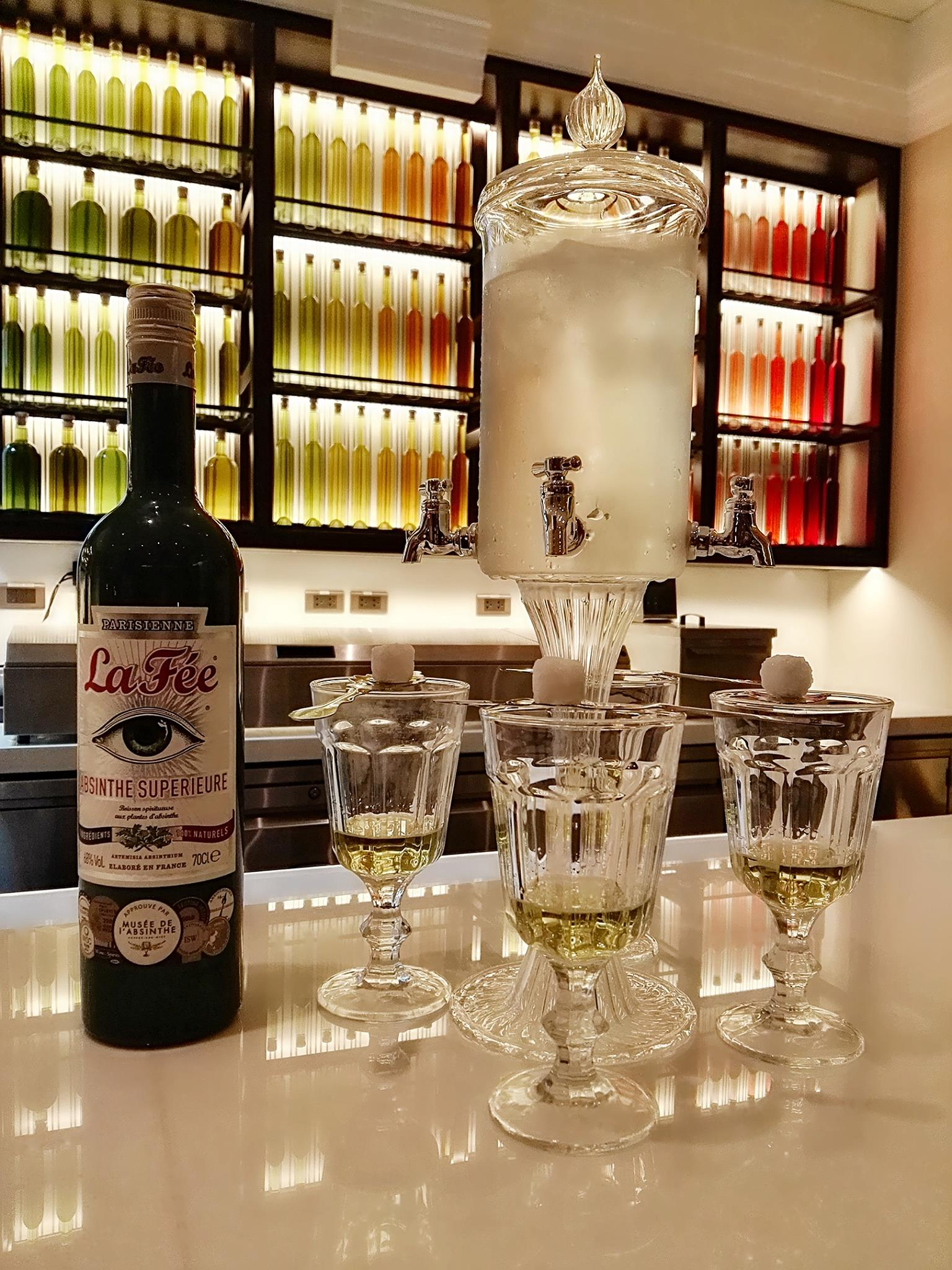 Their Absinthe is one of their more recommended drinks at Mireio; they serve it traditionally as in a fountain, and can be had both at the restaurant and at the rooftop terrace