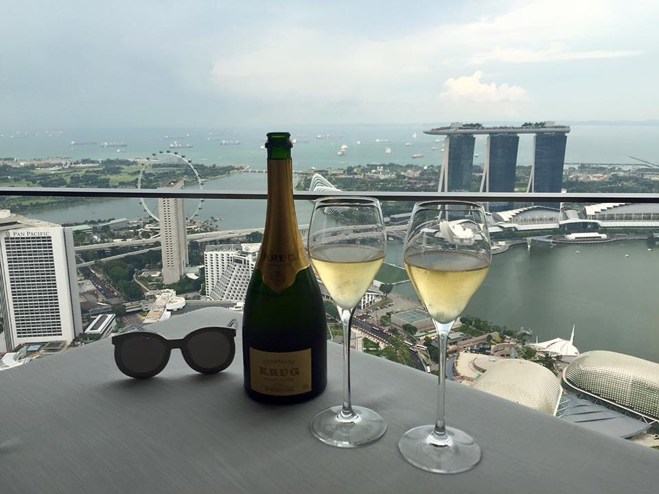 I guess when you manifest, it does turn into reality. On another trip to Singapore, I had another KRUG moment with my friend chef Kirk Westaway of JAAN (a KRUG ambassade) at the restaurant overlooking Singapore.