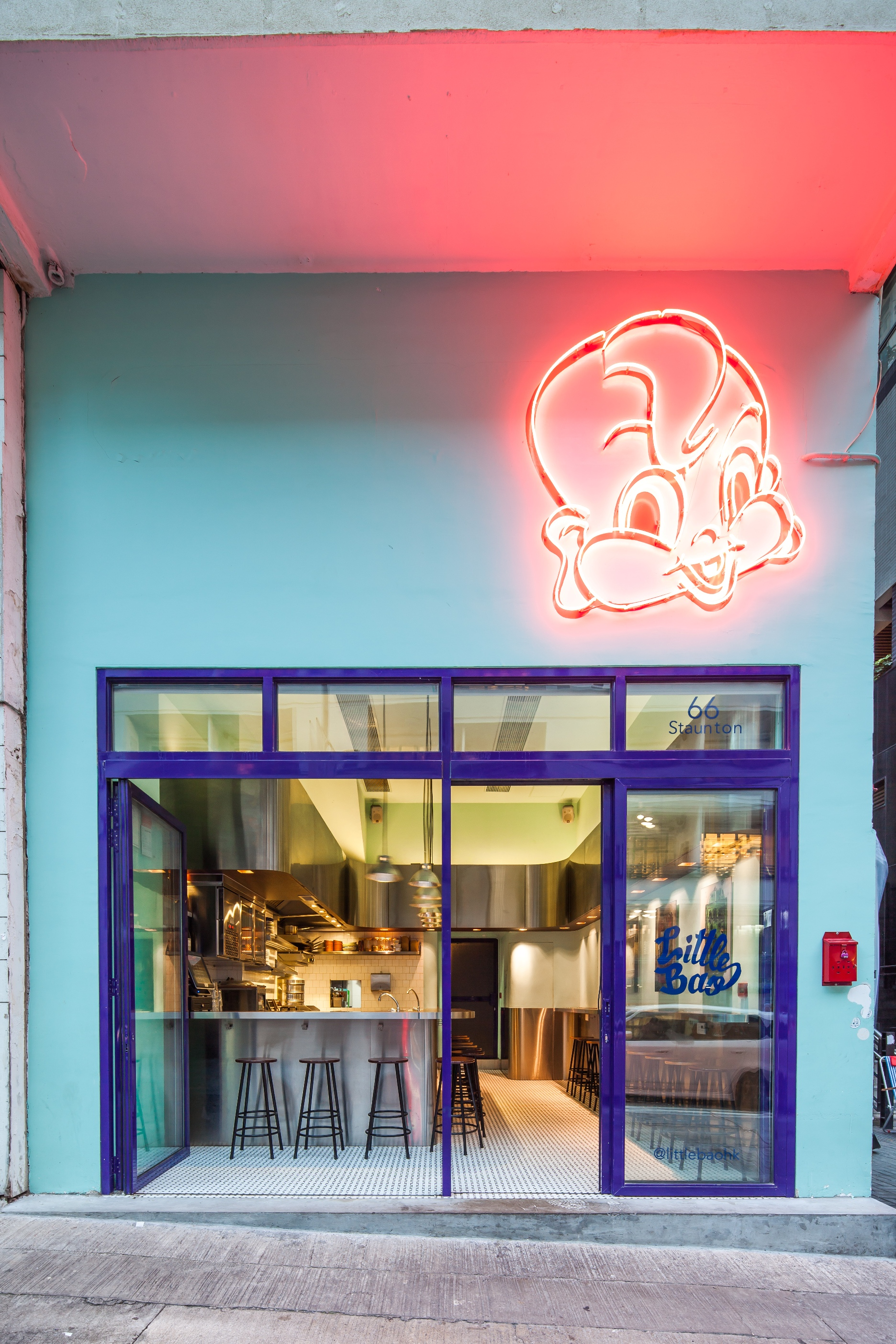 Little Bao on Staunton Street in Soho, Central is one of Hong Kong's most popular joints