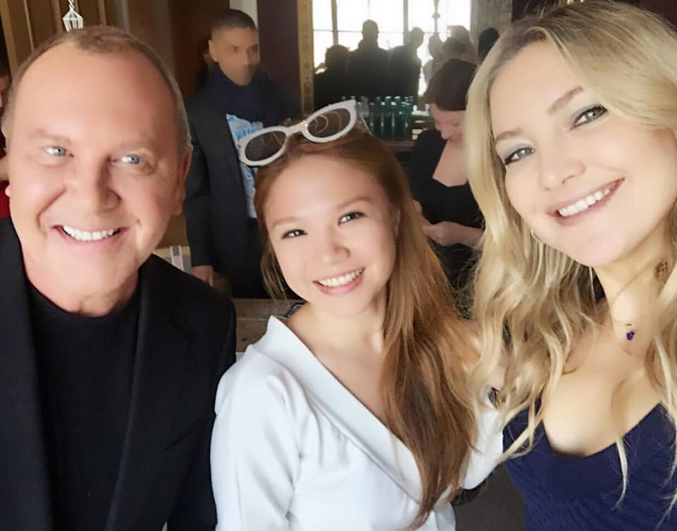 Oh you know, just another Monday morning in New York City chatting w/ Kate Hudson & Michael Kors about fighting world hunger.