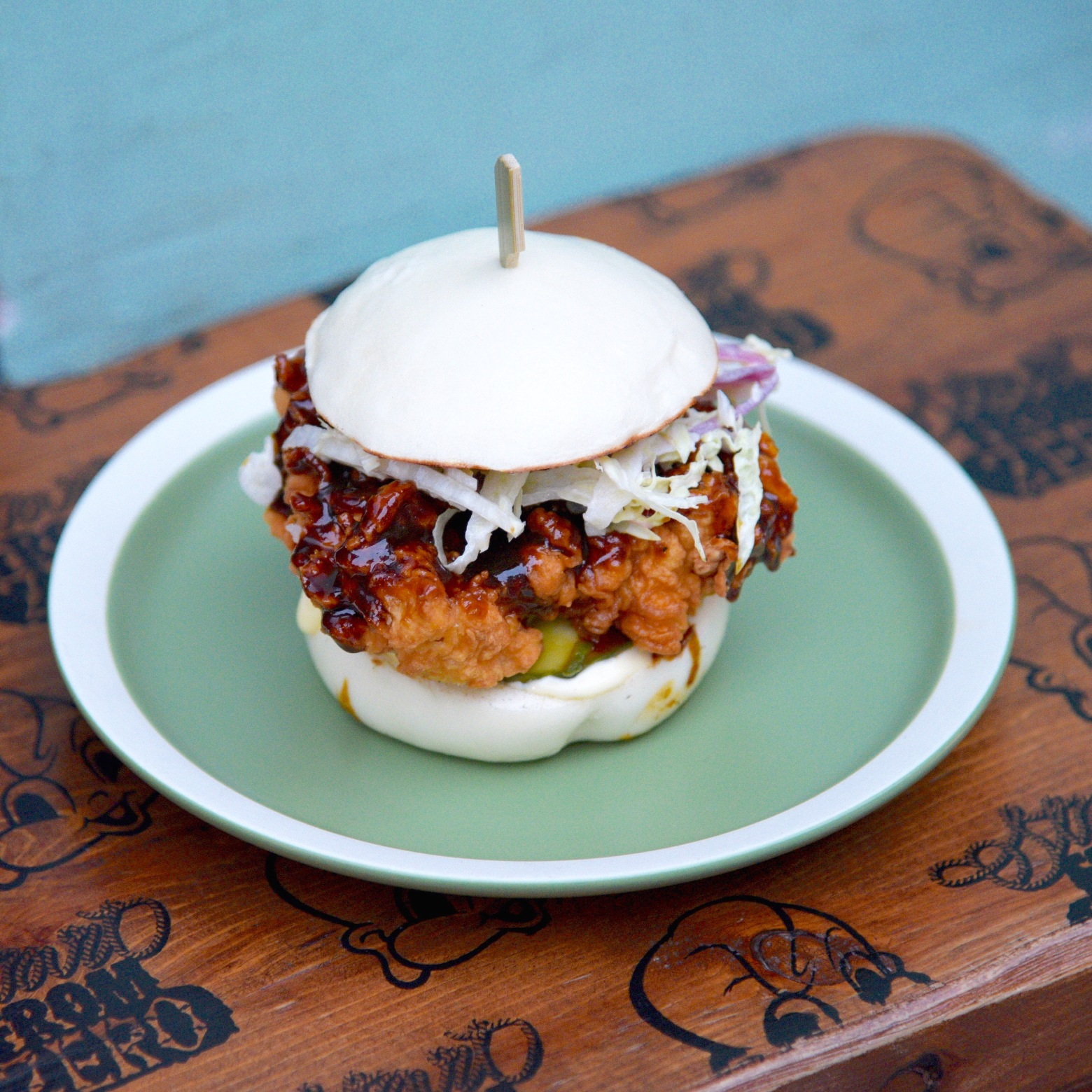 Little Bao's Szechuan fried chicken bao (Photo courtesy of Asia's 50 Best Restaurants)