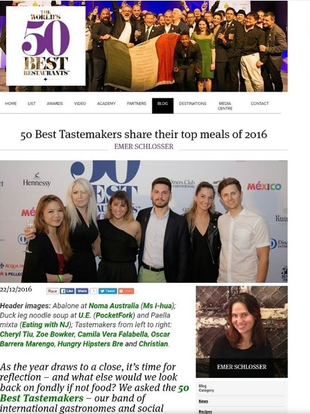 Meeting and reuniting with my fellow World's 50 Best Tastemakers at the Latin America's 50 Best Awards Ceremony <3