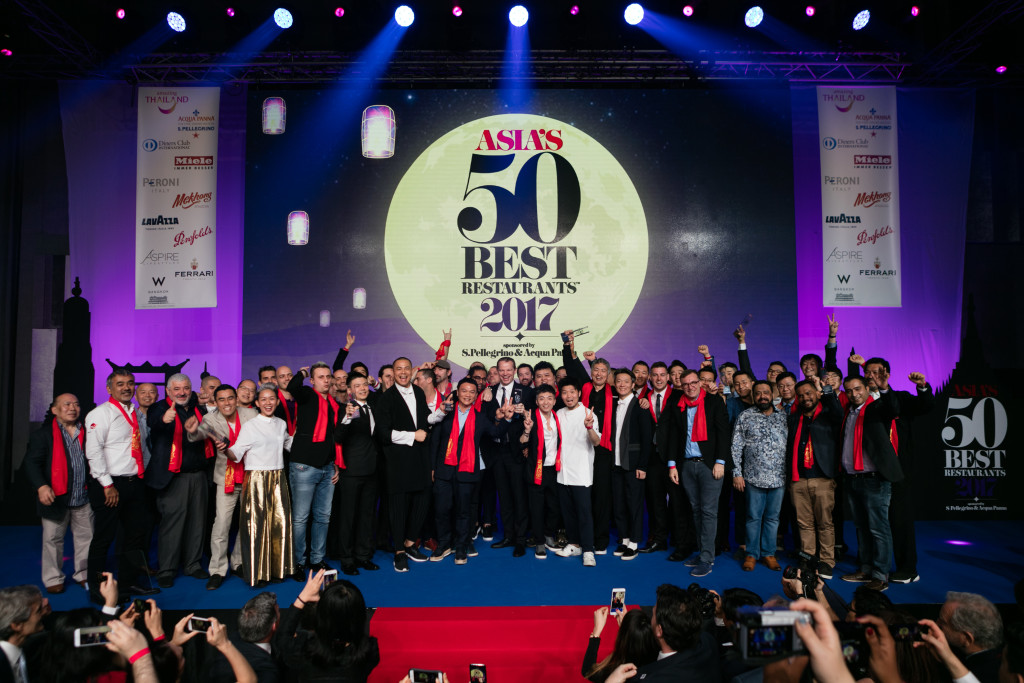 Asia's 50 Best Restaurants 2017- Photo of Winners- W Bangkok, Bangkok, Thailand