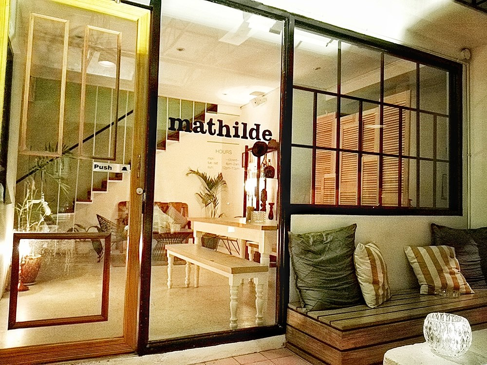 Beautiful interiors at Bar Mathilde make you feel like you're entering a friend's home