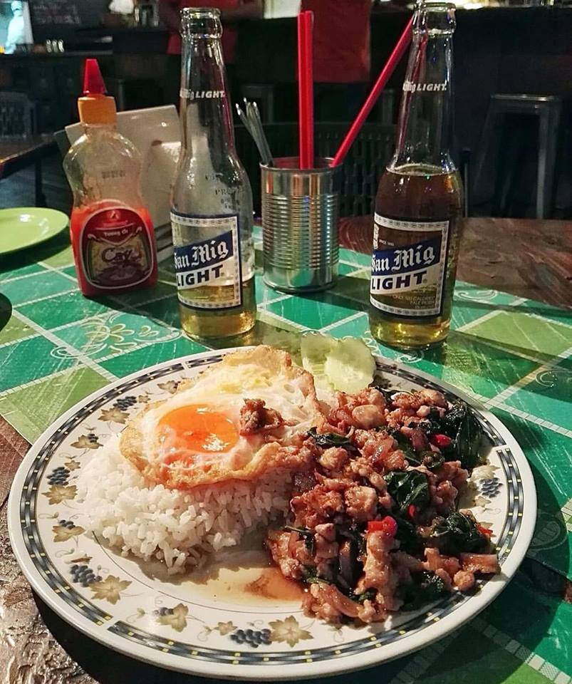 Crying Tiger, Poblacion, Makati, Philippines- Thai Basil Chicken with Fried Egg