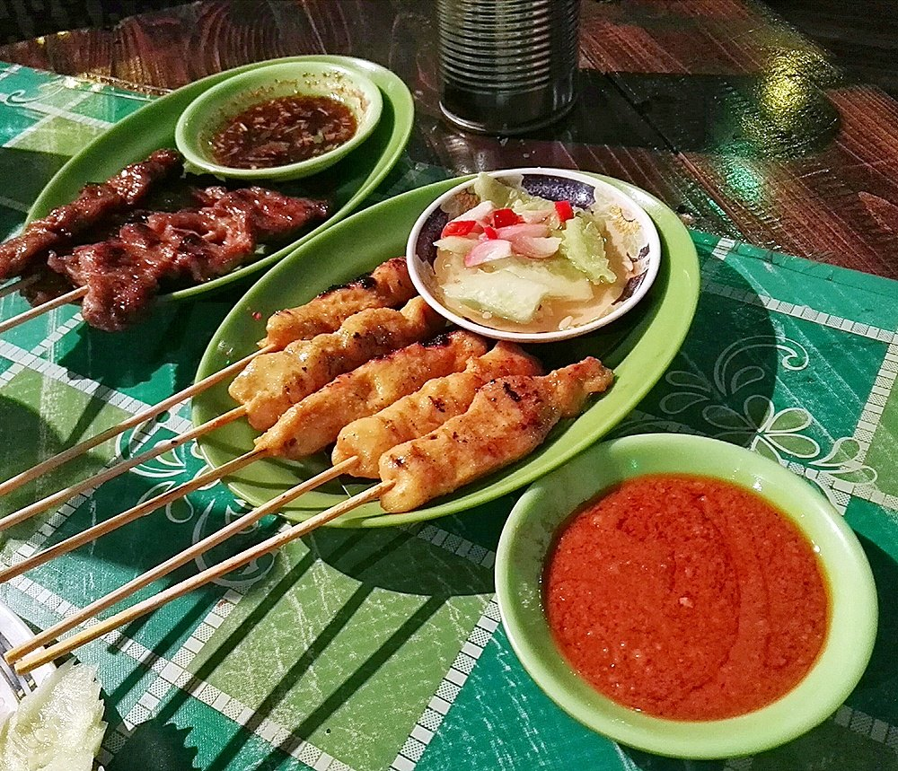 The satays are delicious as well at Crying Tiger, most especially the chicken (right).