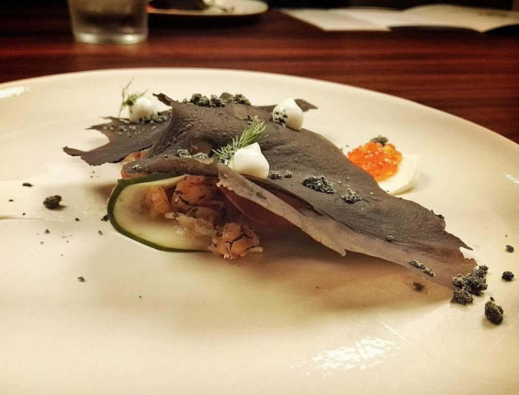 Test Kichen Makati, Philippines- Josh Boutwood- Fjord- Norwegian Salmon with Lavosh in Squid Ink