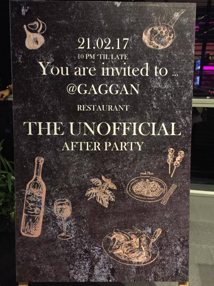 The Gaggan Unofficial After Party- Asia's 50 Best 2017