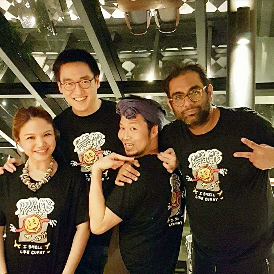 World's 50 Best Tastemakers Cheryl Tiu and Litti Kewkacha with Den's Zaiyu Hasegawa and Gaggan's Gaggan Anand- GagaDen