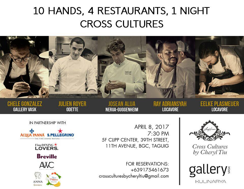 10 Hands Dinner at Gallery Vask- Cross Cultures by Cheryl Tiu