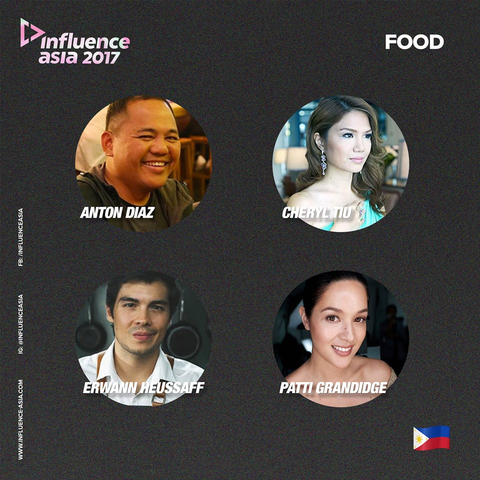 Filipino Influencers for Food- Cheryl Tiu, Anton Diaz, Erwan Heussaff, Patti Grandidge