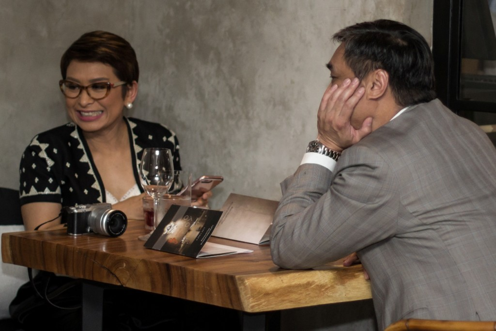 Ces Drilon and Ricky Carandang