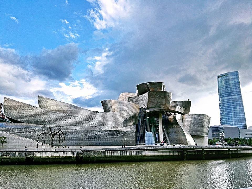 The stunning Guggenheim Museum in Bilbao, designed by Frank Gehry, and home to Michelin-starred Nerua.